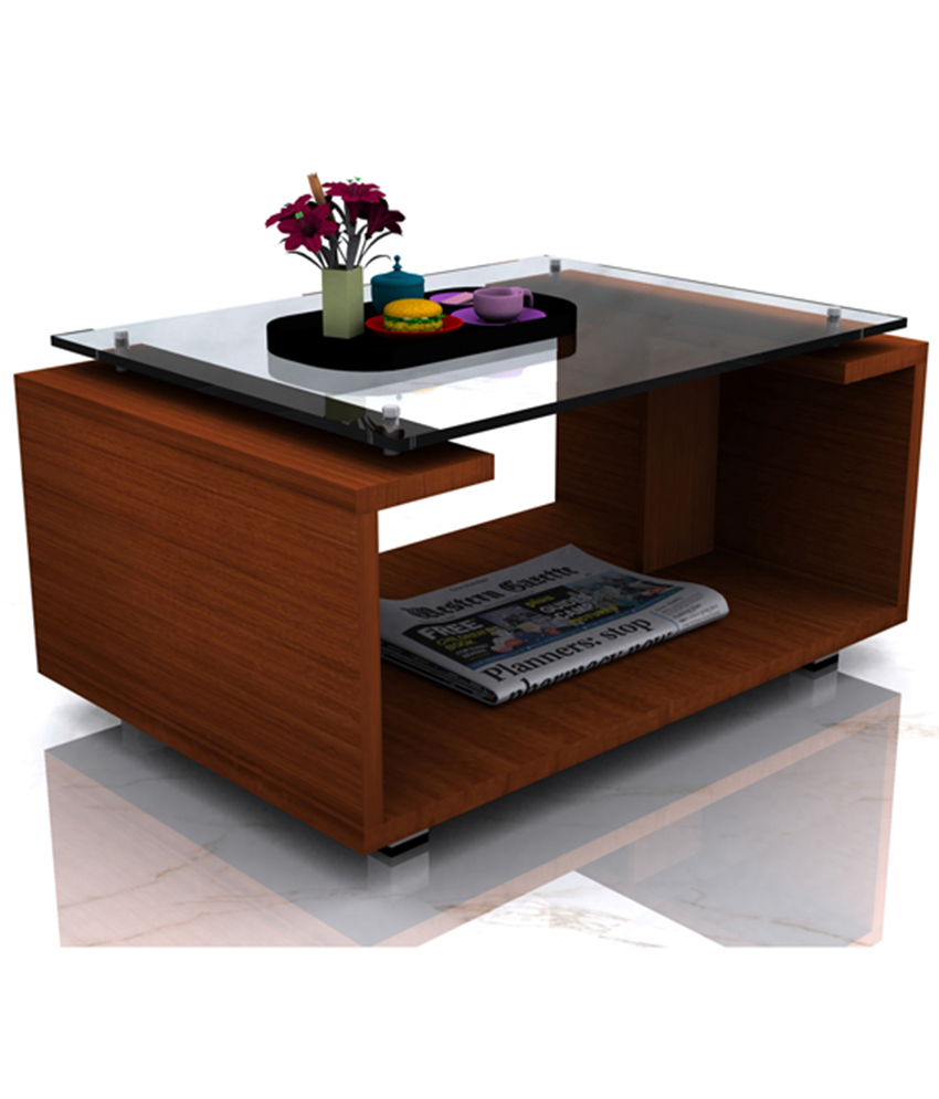 Stylish Wooden Touch Center Table With Glass Top Ds Furnishers